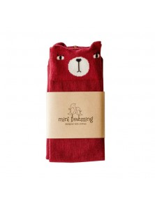Mini Dressing Red Bear Socks