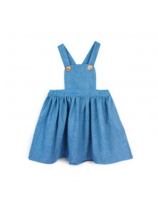 Milou & Pilou Denim Pinafore Dress